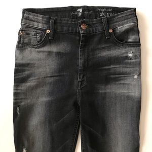 7 All Mankind the high waist skinny jeans